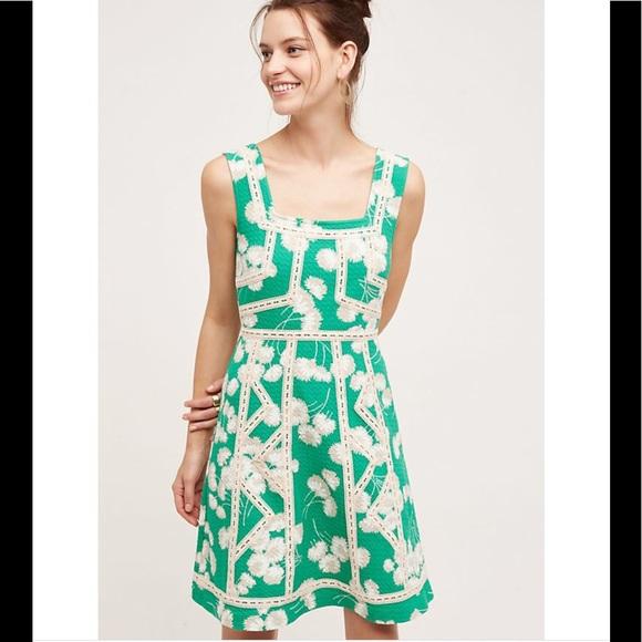 94c3b0dc18992 Anthropologie Dresses & Skirts - Anthropologie Maeve green floral dress Sz  12